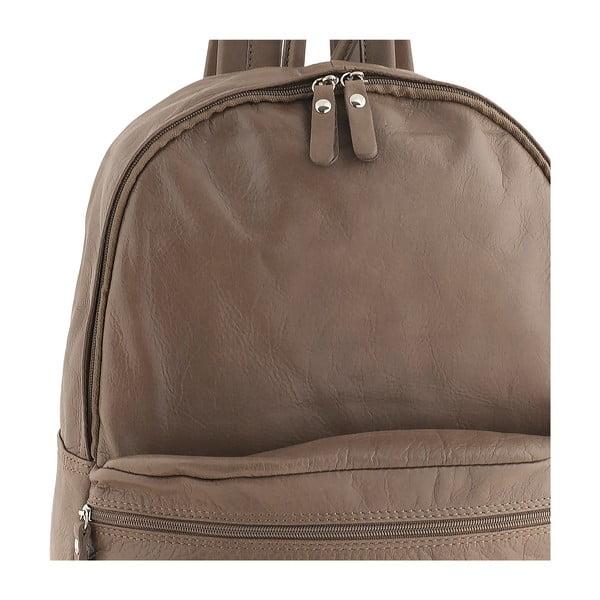 Szaro-brązowy plecak skórzany Ore Diece Rovigo