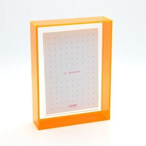Ramka na zdjęcia z pomarańczowymi krawędziami Lund London Flash Blocco, 13,6x18,6cm