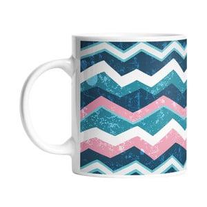 Kubek ceramiczny Geometric Waves, 330 ml