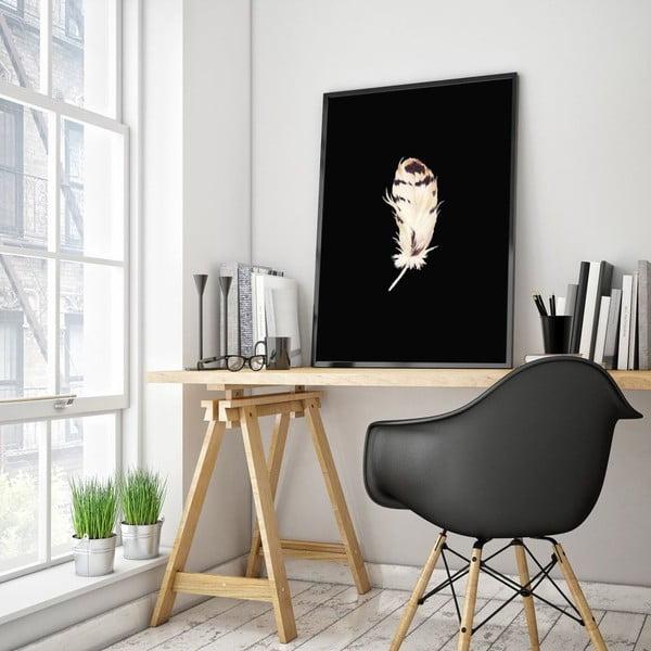 Plakat w drewnianej ramie Plume, 38x28 cm
