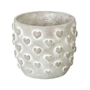 Doniczka Concrete Hearts, 12,5x14,5x14,5 cm
