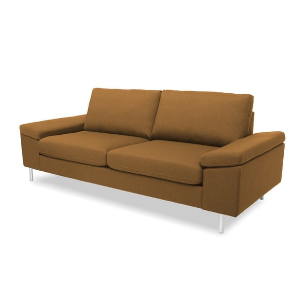Brązowa sofa 3-osobowa Vivonita Nathan
