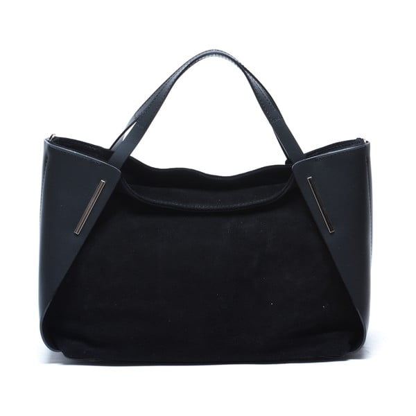 Skórzana torebka Mangotti 878, czarna