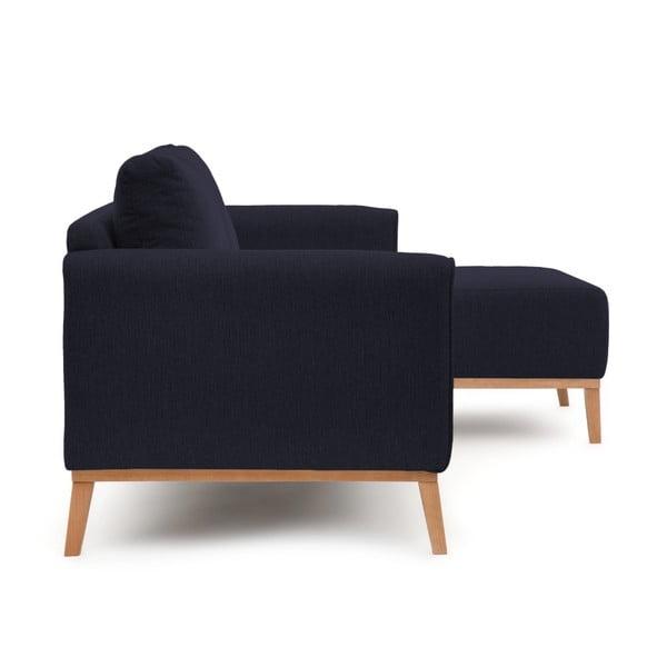 Ciemnoniebieska prawostronna sofa narożna Vivonita Milton
