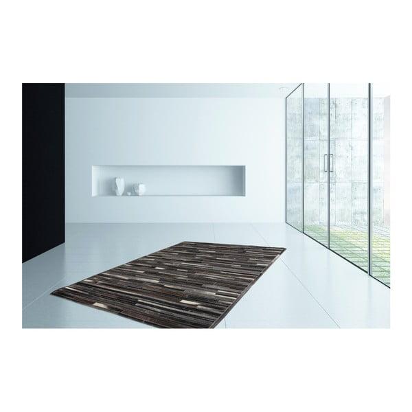 Brązowy skórzany dywan Eclipse,120x170cm