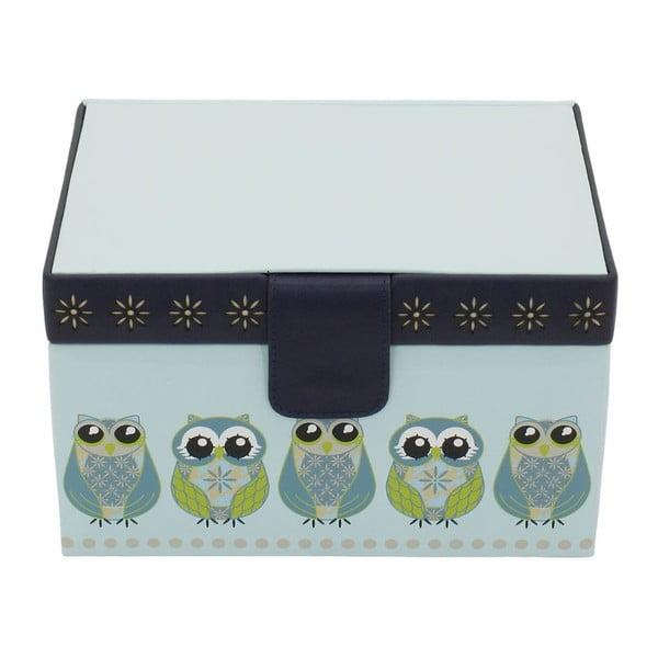 Jasnoniebieska szkatułka Friedrich Lederwaren Owlivia