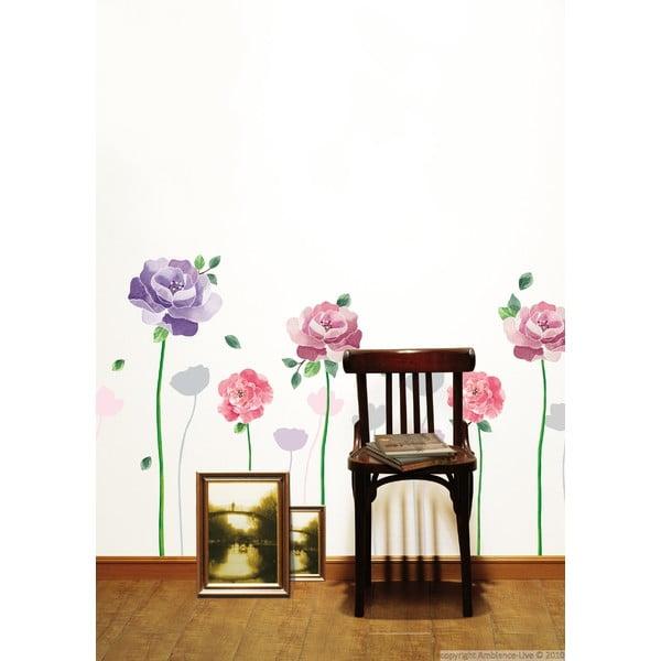 Zestaw naklejek Ambiance Rose Flowers