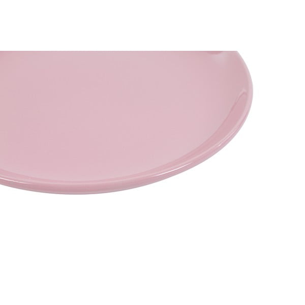 Zestaw 6 talerzy deserowych Kaleidoskop 21 cm, różowy