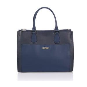 Skórzana torebka Krole Klaudie, niebieska