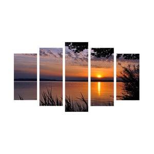 5-częściowy obraz Sunset, 60x100 cm