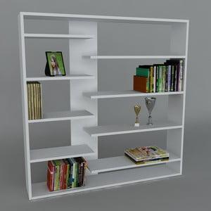 Biblioteczka Handy Book White, 22x125x126 cm