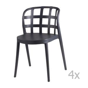 Zestaw 4 ciemnoszarych krzeseł sømcasa Gina