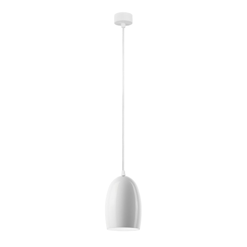 Biała lampa wisząca z połyskiem Sotto Luce Ume
