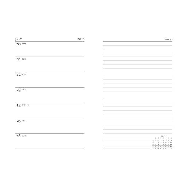 Organizer 2015 Blake Poems 13x8 cm