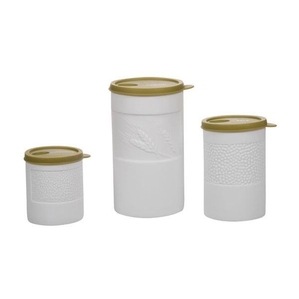 Zestaw 3 pojemników Barattoli Gold
