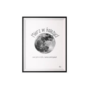 Plakat Księżyc, 40x50 cm