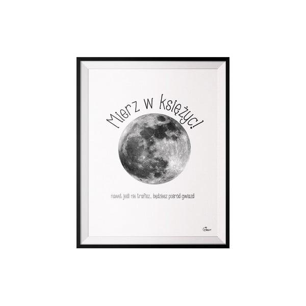 Plakat Księżyc, 50x70 cm
