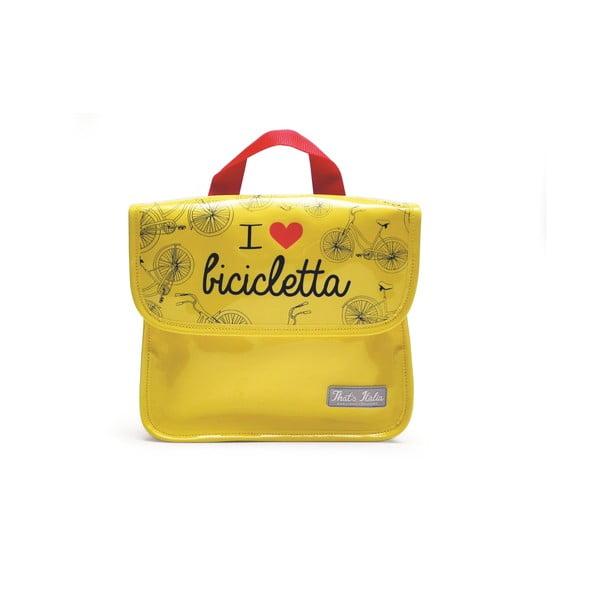 Torba na tablet I ♥ Bicicleta, żółta