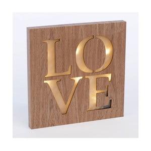 Obraz ze świecącym napisem Love, 34x34 cm
