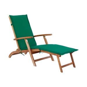 Zielony leżak ogrodowy z drewna akacjowego SOB Garden