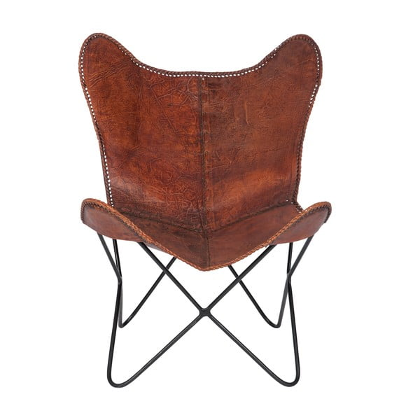 Fotel Lounge Leather Brown