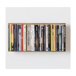 Półka na książki z drewna dębowego das kleine b b9, 34x69 cm