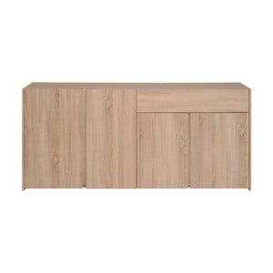 4-drzwiowa komoda z dekorem drewna dębowego z szufladą Parisot Bruay