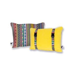 Żółta dwustronna poduszka plażowa Origama Inka