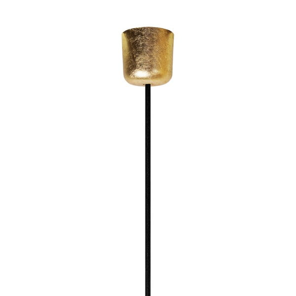 Czarno-złota lampa wisząca Bulb Attack Cero