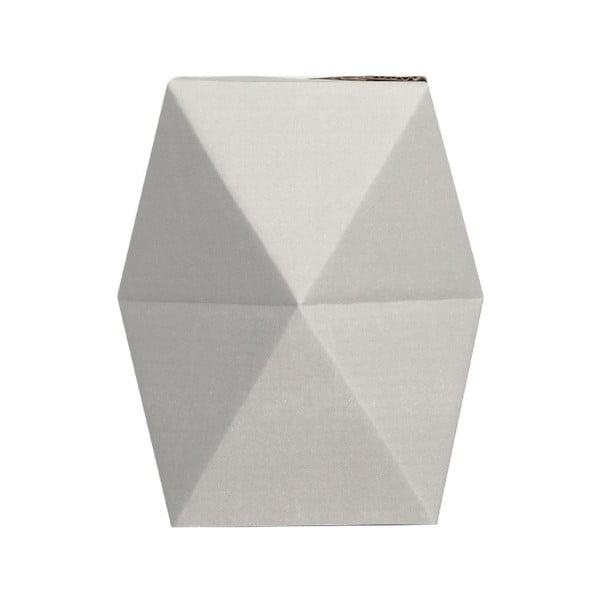 Składany wazon origami SNUG.Low Grey