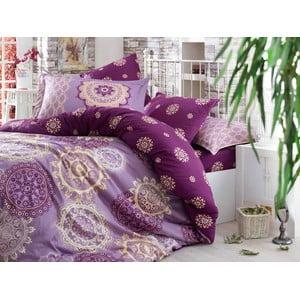 Pościel z prześcieradłem Ottoman Purple, 200x220 cm