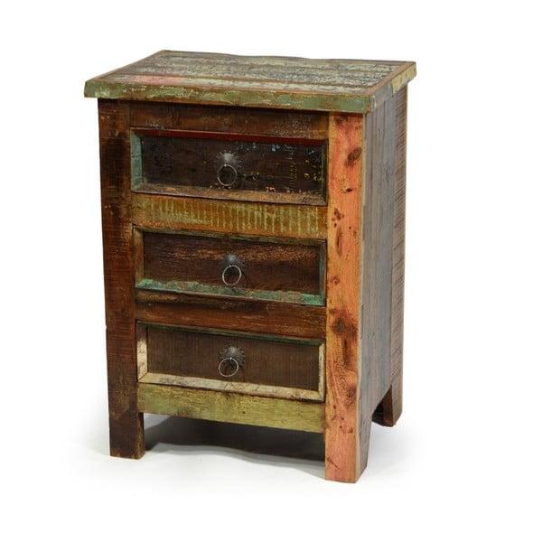 Szafka drewniana z 3 szufladami India