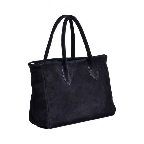 Skórzana torebka Carmina, czarna