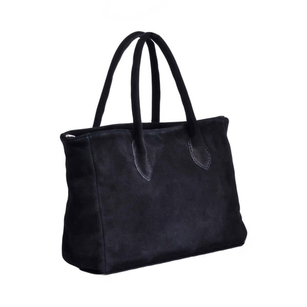 Skórzana torebka Shanna, czarna