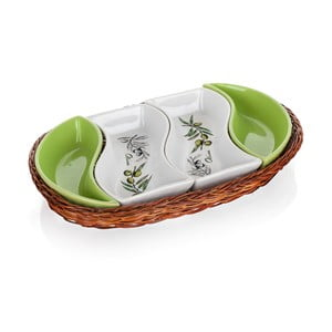 Taca w koszyku Banquet Olives, 30,5 cm, 4 elementy