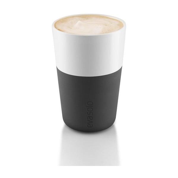 Wysoki kubek Eva Solo Café Latté Carbon, 360 ml, 2szt.