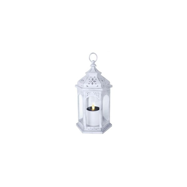 Biały solarny lampion LED Best Season Warm, 36 cm