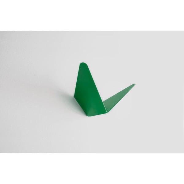 Wieszak z półeczką Butterfly, zielony, 8,9x8,3 cm