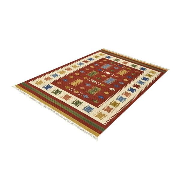 Dywan wełniany Kilim Classic AK01 Mix, 125x185 cm