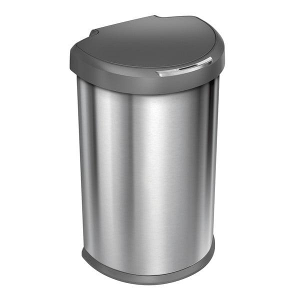 Bezdotykowy kosz na śmieci simplehuman 45 l, szary