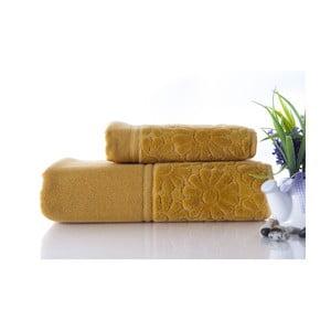 Zestaw 2 ręczników Samba Mustard Color, 70x140 i 50x90 cm