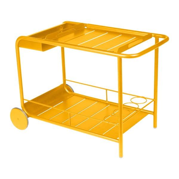 Żółty stolik do serwowania Fermob Luxembourg
