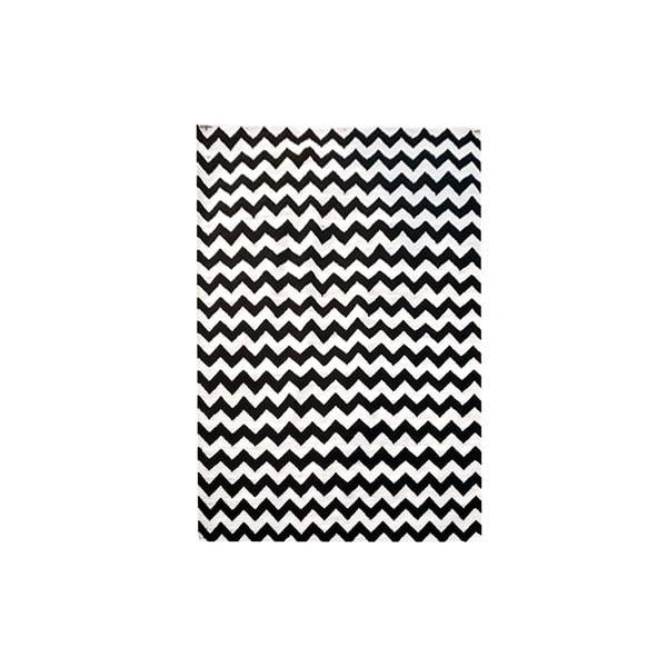 Ręcznie tkany dywan Kilim Design Two Black, 160x230 cm