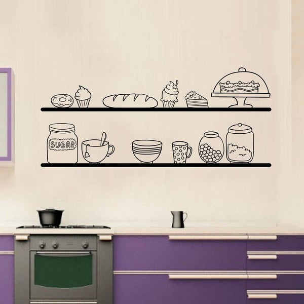 Naklejka ścienna Kitchen Shelves