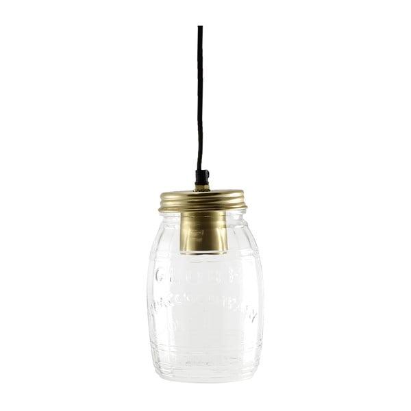 Lampa wisząca Glass Jar Brass