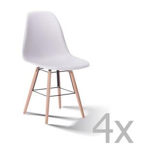 Zestaw 4 białych krzeseł SOB Carson
