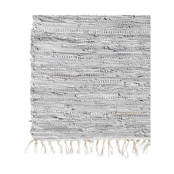 Skórzany dywan Nordal 140x200 cm, szary