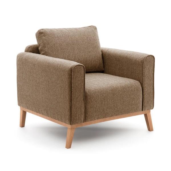 Jasnobrązowy fotel VIVONITA Milton