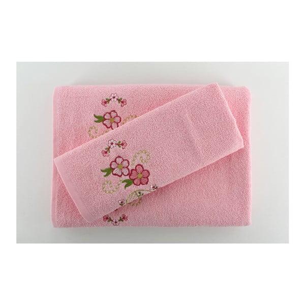 Zestaw 2 ręczników Happy Pink