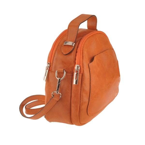 Skórzana torebka Men, pomarańczowa